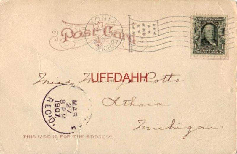 pre-1907 CATHOLIC ACADEMY, IONIA, MI 1907