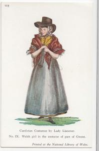 Wales; Lady Llanover, No 9 Welsh Girl In Costume of Part Of Gwent PPC, Unposted