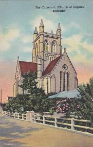 Street view, The Cathedral, (Church of England),  Bermuda,  30-40s