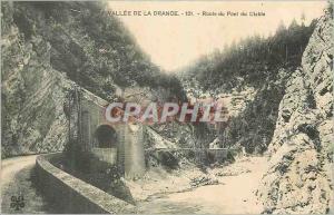 Old Postcard Vallee de Drance Road Devil's Bridge