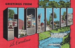 Large Letter FLORENCE, South Carolina, 1930-1940s