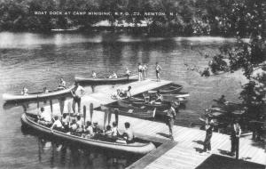 Newton New Jersey Camp Minisink Boat Dock Antique Postcard K61741