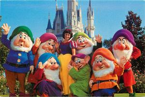 Snow White Seven Dwarfs Magic Kingdom Disney World Orlando Florida Postcard