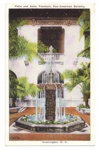 Washington DC Postcard Pan American Building Patio Fountain