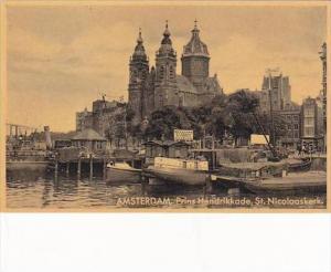 Netherlands Amsterdam Prins Hendrikkade mit St Nicolaaskerk