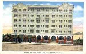 Hotel Ponce De Leon St Petersburg FL 1945