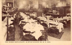 New York City New York interior view The Rorer Restaurant antique pc Z12006