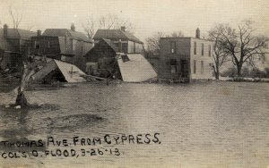 OH - Columbus. March 26, 1913 Flood. Thomas Avenue from Cypress