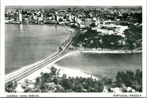 Vtg Tarjeta Postal Tapa Aerolíneas - Angola Portugal Antena - Luanda Vista