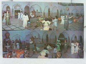 Vintage Postcard Riad El Bahia Marrakech Young Women Dancing to Music