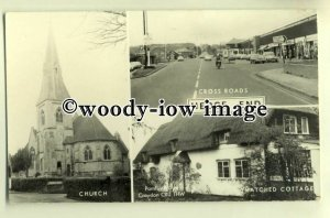 tp0405 - Hants - Multiview x 3 of Various Views in Hedge End c1960s  - Postcard