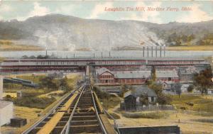 E81/ Martins Ferry Ohio Postcard c1910 Laughlin Tin Mill Factory 15