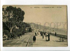 3093780 FRANCE Menton La Promenade du Midi Vintage PC