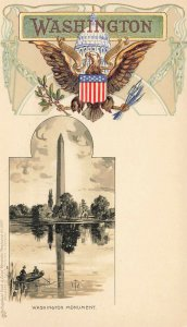 Washington DC Washington Monument Embossed Raphael Tuck Postcard