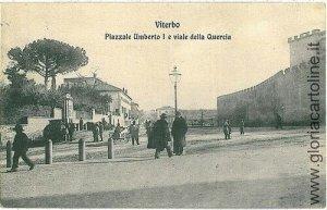 CARTOLINA d'Epoca: VITERBO Città - PIAZZALE UMBERTO I