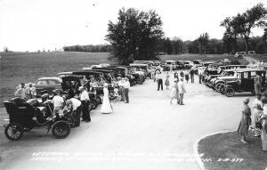 Gaylord Michigan~Hidden Valley~Veteran Motor Car Club~Vintage Autos~1940s RPPC