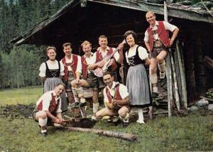 Westendorf German Germany Morris Folk Dancer Fashion Costume Postcard