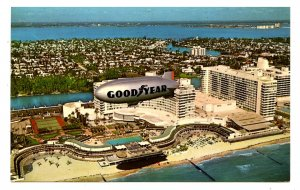 Goodyear Blimp Mayflower Over Miami Beach, Florida