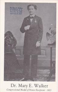 De Mary E Walker Of Oswego New York Congressional Medal Of Honor Winner 1865