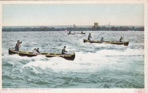 SAULT STE. MARIE, Michigan, 1900-1910's; Shooting The Rapids