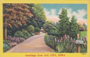 Iowa Greetings From Sac City