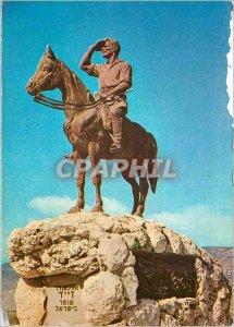Postcard Modern Kiryat Tiv Alexander Zayid on the memorial