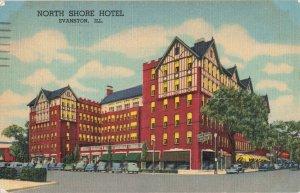 Postcard North Shore Hotel Evanston Illinois