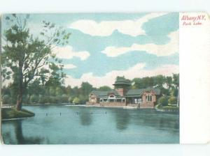 Unused Pre-1907 PARK LAKE BUILDING Albany New York NY n5525