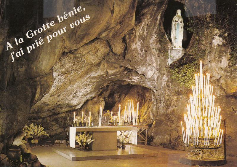 FRANCE LOURDES THE GROTTE INTERIOR