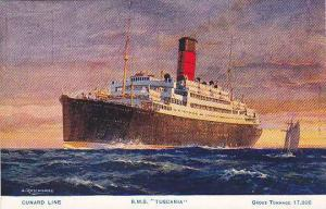 Cunard Line R.M.S. TUSCANIA , 00-10s