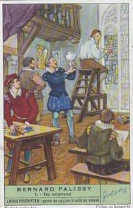 Liebig Trade Card s1500 Bernard Palissy No 1 De Roeping