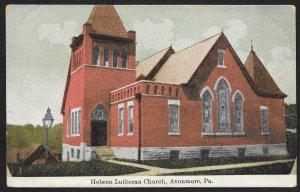 Hebron Lutheran Church Avonmore Pennsylvania Used c1910s