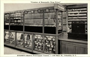 Postcard Advertising Columbia SC Eckerd's Drug Store - VINTAGE