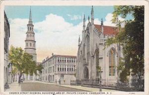 Church Street Showing Huguenot And Saint Philips Church Charleston South Caro...