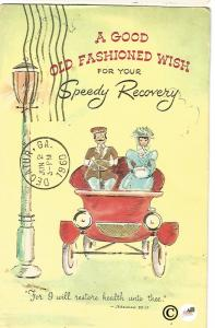 A Good Old Fashioned Wish For Speedy Recovery Vintage Postcard