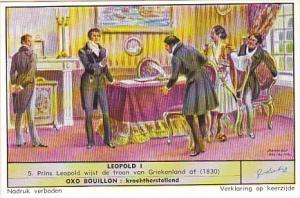 Liebig Trade Card S1669 Leopold I 1957 No 5 Prins Leopold wijst de troon van ...