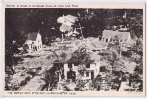 Hurricane 1938, Onset in Ruins, Fairmouth, Cape Cod MA