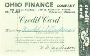 Pocket Calendar 1951 Ohio Finance Credit Card