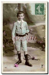 Old Postcard Diabolo Child