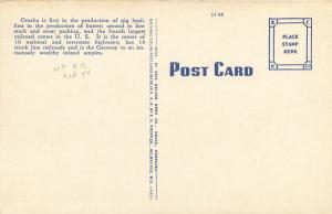 b/w Omaha, NE, & Council Bluffs, IA, Union Pacific Bridge, 1944 Postcard e3212
