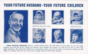 Humour Vintage Arcade Card Your Future Husband Will Be A Fuller Brush Man