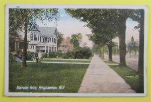 Riverside Drive, Binghamton, NY Postcard (#4755)