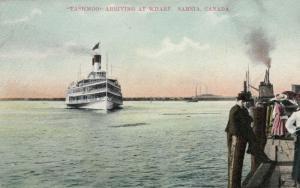 SARNIA , Ontario , Canada , 1900-10s ; Steamer TASHMOO Arriving