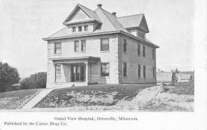Ortonville Minnesota~Grand View Hospital~1908 Postcard