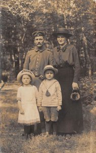 Family in Hats 1916 real photo