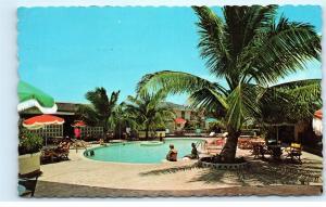 *Pool Colony Hotel Montego Bay Jamaica Vintage Postcard B85