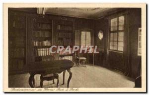 Postcard Old Studierzimmer Herrn der Rat Stock Library Library Frankfurter Go...