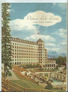 NE-018 Alberta, Canada, Chateau Lake Louise July 1st, 1960 Menu Vintage
