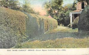 D/B Rose Garden Hedge Sweet Briar Institute Virginia VA 1911