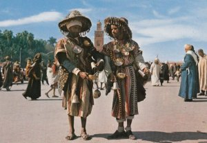 MARRAKECH , Morocco , 1950-70s ; Water Carriers